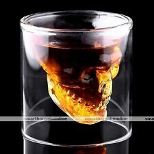 Skull Head Wine Glass Cool Design Crystal Party Bar Pub Wine Whisky Cup Hot