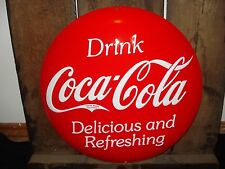 Coke Coca Cola Metal Decor garage shop logo emblem soda pop red button cinema 3d