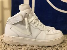 Nike Air Force 1 One '07 Mid, 315123-111, White/White, Mens Size 12
