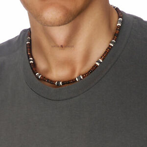 Mens Beaded Necklace Weekend Beads Man Clubbing Party Surfer Boys Holidays Gift