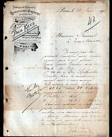 """PARIS (XII°) SERRURERIE & QUINCAILLERIE """"H. BEZANCON / Paul KEUL"""" en 1895"""