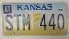 1995 KANSAS Atchison County License Plate STM 440