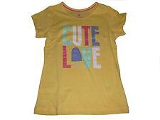 NEU Lupilu tolles T-Shirt Gr. 110 / 116 gelb mit Glitzerschriftzugdruck !!