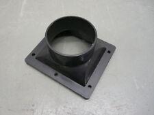 4-eck rund Adapter D=100 mm Absaugstutzen Ansaugstutzen f Absauganlage Fan Venti