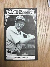 1973 TCMA Goose Goslin All Time Greats Postcard