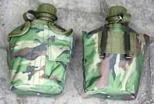 G.I. CANTEEN WATER BOTTLE & COVER - 1 LITRE PLASTIC MILITARY STYLE NEW MADE