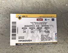 Sammler Used Ticket UEFA Youth League AEK Athen FC Bayern München 23.10.18