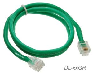 Cat5e RJ11/12 DSL Data Green or white Cable For CenturyLink, AT&T Modems.