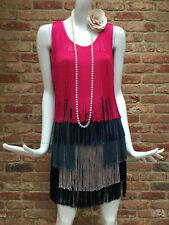 French Connection Multicoloured Flapper 1920s Gatsby Tassle Fringe Dress Size 8