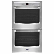 """Maytag MEW9627DS 27"""" Electric Double Wall Oven with Convection Stainless"""
