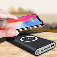 Qi Wireless Charging 10000mAh Power Bank Battery Pack Portable Fast Charger CA