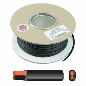 2 Core Flat Thin Wall Automotive Auto Cable Wire 12V 24V - 0.5mm 0.75mm 1mm