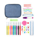 45PCS Knitting Tools Crochet Needle Hook Accessories Supplies With Case Knit Kit