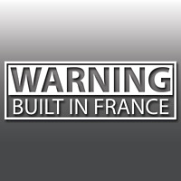Warning Built In France Funny Novelty Car Vinyl Decal Sticker | JDM | Euro | DUB