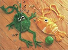 Frog & Fish Pouches crochet Pattern Instructions