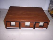 ADD 'N STACK WOODGRAIN STORAGE CASE  FOR CASSETTE TAPES  **HOLDS 42 TAPES*   #21