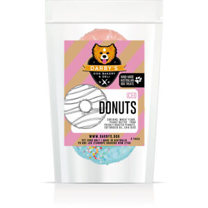 Darby's Dog Bakery & Deli oven-baked Iced Donut dog treats cookies 4 pack