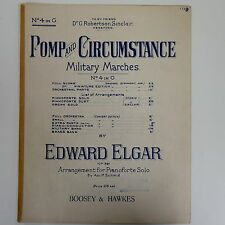 piano solo POMP & CIRCUMSTANCE  4 in G , elgar military march