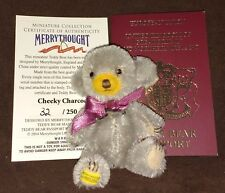"MERRYTHOUGHT 3"" CHEEKY CHARCOAL MOHAIR TEDDY BEAR 32 OF 250 - NEW IN BOX"