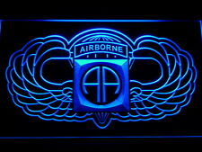 82nd Airborne Wings Army LED Neon Light Sign Man Cave F184-B