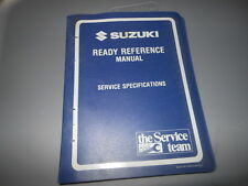 1996 Suzuki Models Motorcycle & Atv Ready Reference Manual