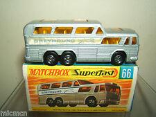 "MATCHBOX  LESNEY SUPERFAST MODEL No.66c      "" GREYHOUND COACH ""       VN MIB"