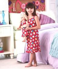 "Cup Cake Matching Girl & 18"" Doll Summer Nightgowns.Lovely gift. Girls love it"