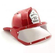 Feuerwehrhelm mit Visir  rot / Kinder 5624 Fasching Kopfbedeckung Scan Agenta
