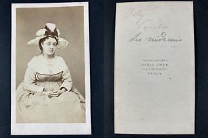 Grob, Paris, Mademoiselle Silly, comédienne dans Les médecins Vintage cdv albume