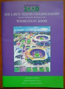 Wimbledon 2000 Official Tennis Championship DAY 13 Programme (9th July 2000)