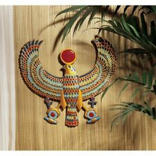 Horus Design Toscano Egyptian Hand Painted Wall Plaque Accented In Faux Gold