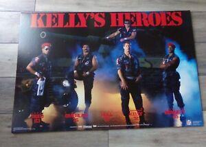 🔥 Rare 1990's BUFFALO BILLS JIM KELLY KELLY'S HEROES Store Display Poster Board