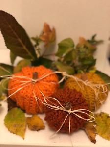 Handmade crochet pumpkins In Any Colour!
