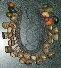 Witoto Amazon Tribe Ceremonial Necklace With Natural Jungle Seeds, Colombia