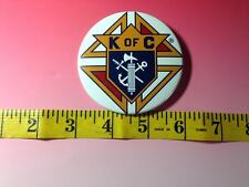 """KNIGHTS OF COLUMBUS - Sword Anchor Cross Large BUTTON 3"""" pin-back"""