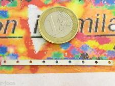 1 distanzitore 9 fori in argento 925 la barreta e lunga 6 mm x 3mm spess.  italy
