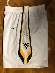 New Nike West Virginia Mountaineers Basketball Short Men's Medium White Navy