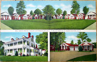1940s Linen Postcard: Del Haven White House Cottages, US 1 - Washington, DC