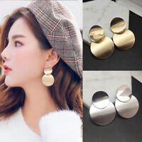 Women Gold Silver Metal Geometric Circle Earrings Fashion Drop Earring Jewerly