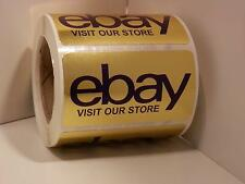 VISIT OUR EBAY STORE 2.5x1.375  label sticker bright gold 250/rl