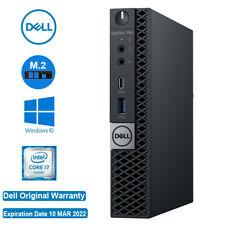 DELL Optiplex Desktop 7060 Micro i7-8700T 6Core 8GB RAM 128GB M.2 SSD 1YR OR WTY