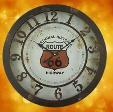 Station Uhr Wanduhr Route 66 Eisen Biker Geschenk Vintage  Mobiliar & Interieur2