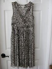 Banana Republic~100% Silk~Sz 0~Brown/Beige~Leopard Print~Sleeveless~Sheer~Dress
