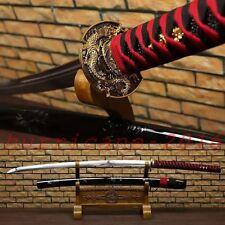 44inch Japanese Samurai Sword Manganese Steel Blade Katana Gold Dragon Tsube#102