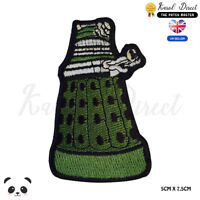 Dalek Doctor Disney Embroidered Iron On Sew On Patch Badge For Clothes etc