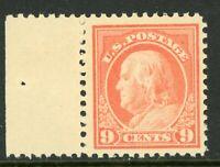 USA 1917 Franklin 9¢ Perf 11 Flat Pl Unwmk Scott 509 MNH N433