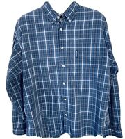 Columbia Button Up Shirt Adult Extra Large Blue Long Sleeve Casual Mens