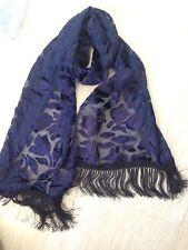 Bufanda Azul Marino-Terciopelo-Velvet-Textura - toque De Seda Lisa Ooooo