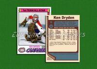Ken Dryden - Montreal Canadiens - Custom Hockey Card  - 1976-77