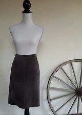 MOSSIMO Dark Brown Soft Suede Lined Pensil Skirt Rare Woman's Sz 14 Nice!